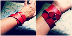 Red cuff 31 days of jewelry making